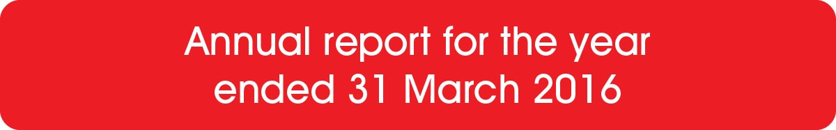 Annual report for the year ended 31 March 2016