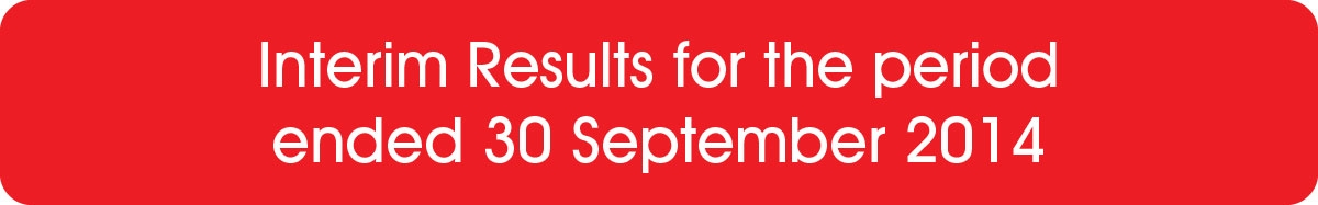Interim Results for the period ended 30 September 2014