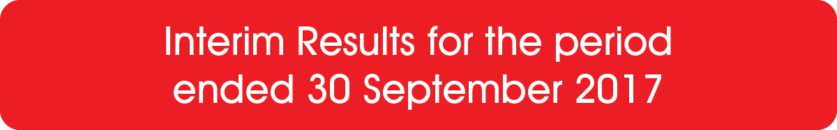 Interim Results for the period ended 30 September 2017